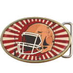 American Football Helmet Belt Buckle. Code A0089